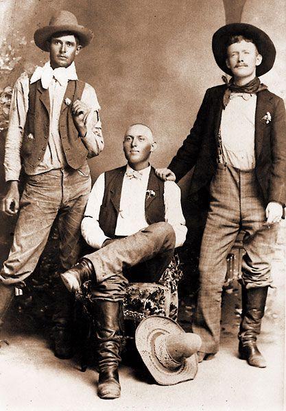 Cowboy Wayne Brazel (center) shot Pat Garrett.