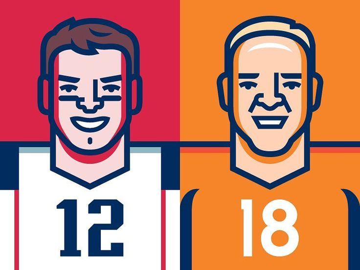 In the spirit of the 50th Super Bowl Elias Stein's player characteurs are definitely worth sharing  Tom Brady and the New England Patriots vs. Peyton Manning and the Denver Broncos [3 of 3] #superbowl50 #superbowl #NFL #iconaday #handmade #handdrawn #creativeinspo #vector #vectors #vectorart #vectorillustration  #designtip #digitalart #illustration #illustagram #dailyart #wpapdesign #denverbroncos #iconography #art_community #adobe #azcardinals #vectorillustration #vectordesign #designaday…