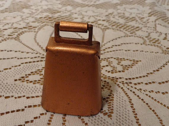 Vintage Metal Copper Bell  Small Cow Sheep or Goat Bell