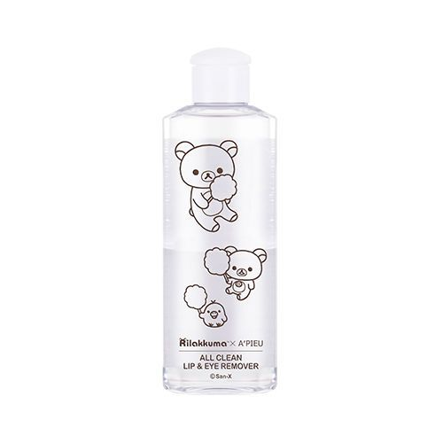 [A'PIEU] All Clean Lip & Eye Remover White Lily (Rilakkuma Edition) 160ml   Feature Tidy lip and eye make-up remover that cleanly removes even water-proof make-up - Complete cleansing:  With its optimal proportion of oil and moisture level, it cleans the water-proof make-up even more powerfully and completely.