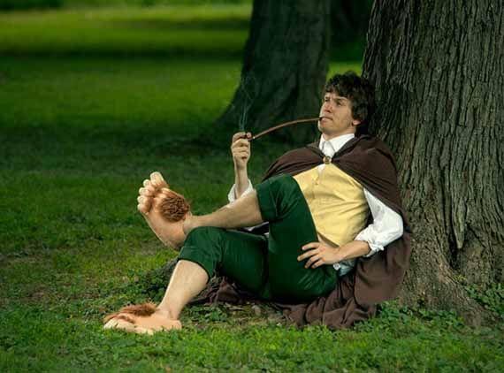 Hairy Hobbit Feet Slippers For Humans  #dolsboutique
