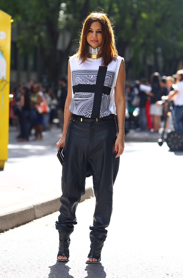 #fashion-ivabellini Christene Centenera, Ksubi Leather Pants | Street Fashion | Street Peeper | Global Street Fashion and Street Style