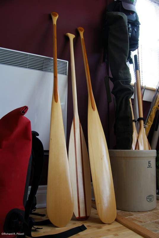 Larry Bower Hand Made Paddles with a Red tail in the middle