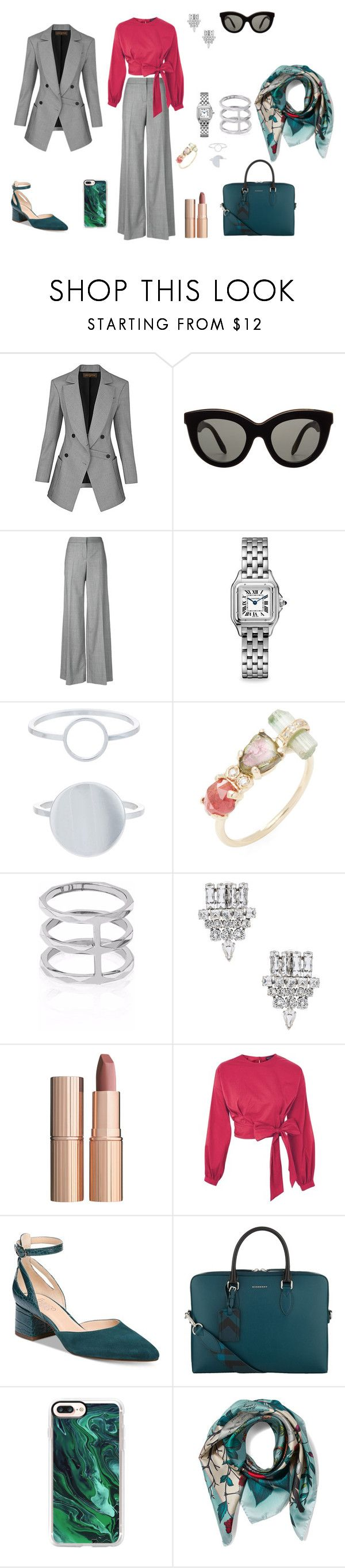 """ofi"" by ananleke on Polyvore featuring moda, Victoria Beckham, Alexander McQueen, Cartier, Accessorize, Jacquie Aiche, Edge of Ember, Yves Saint Laurent, Charlotte Tilbury y Topshop"