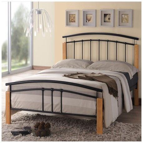 the tetras 3ft single black bed frame combines light beech with contemporary silver and is available - Silver Metal Bed Frame