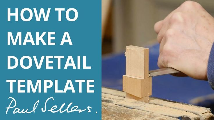 how to make a dovetail template