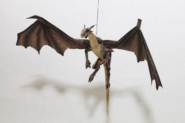Drakan - Gold Dragon Free Papercraft Download - http://www.papercraftsquare.com/drakan-gold-dragon-free-papercraft-download.html#Dragon, #Drakan