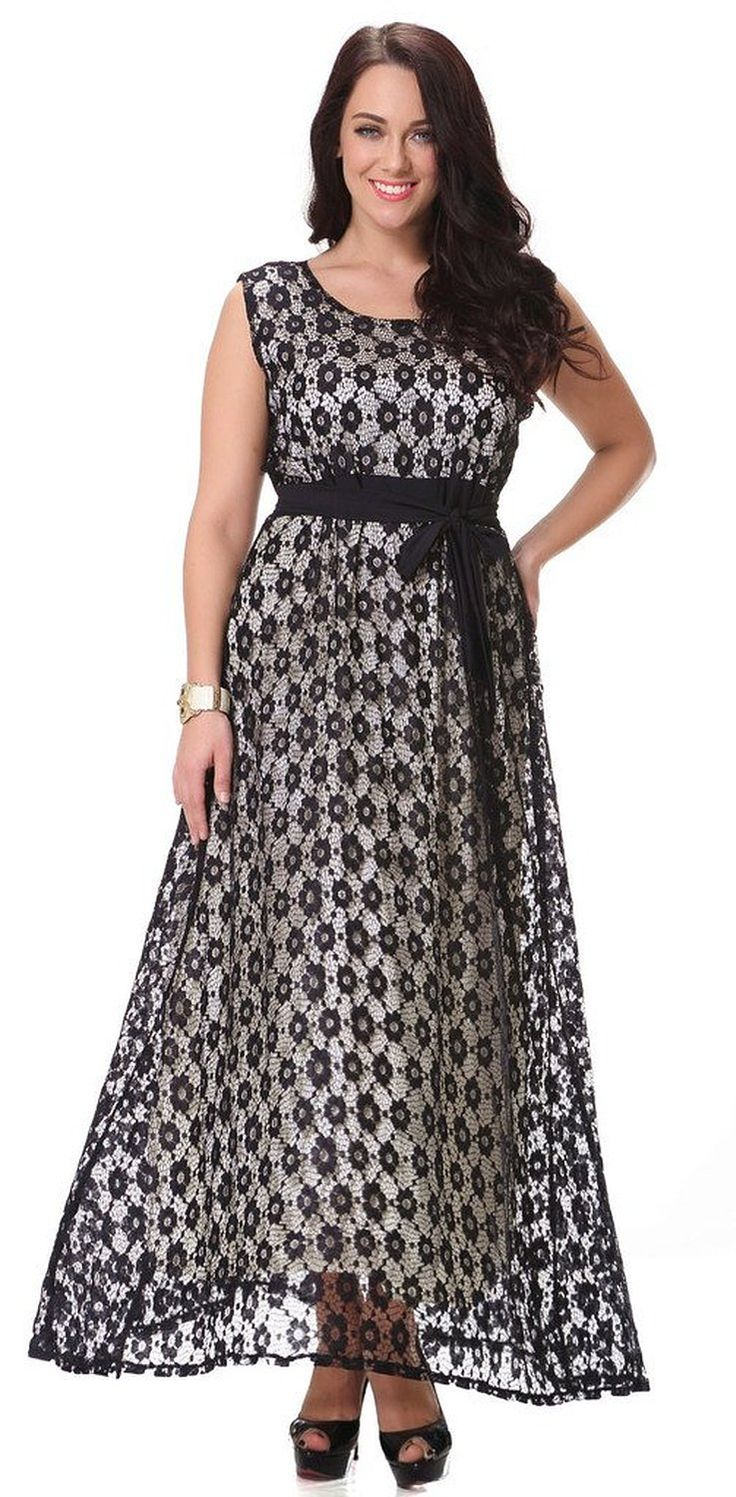 Yacun Women's Swing Bridesmaid Dress Lace Maxi Evening Gown Dresses Plus Size >>> See this awesome image  : Plus size dresses