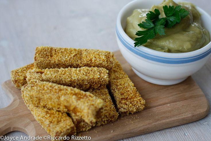mygreenfood - Maionese di avocado con bastoncini di tofu al forno