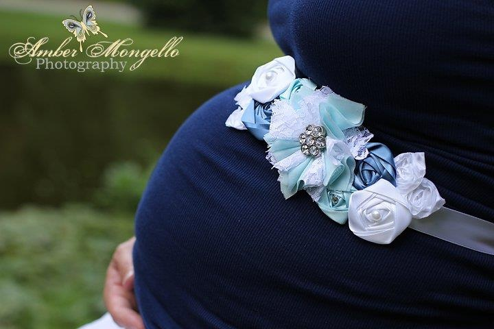 Baby Boy Flowered Ribbon