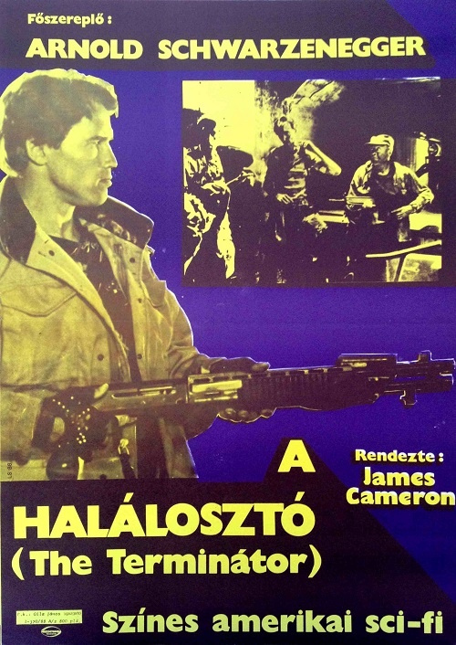 The Terminator Hungarian movie poster