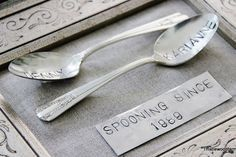 Modern Gift  Spooning Since Silverware DIY (5 Unique Five Year Anniversary Gift Ideas).