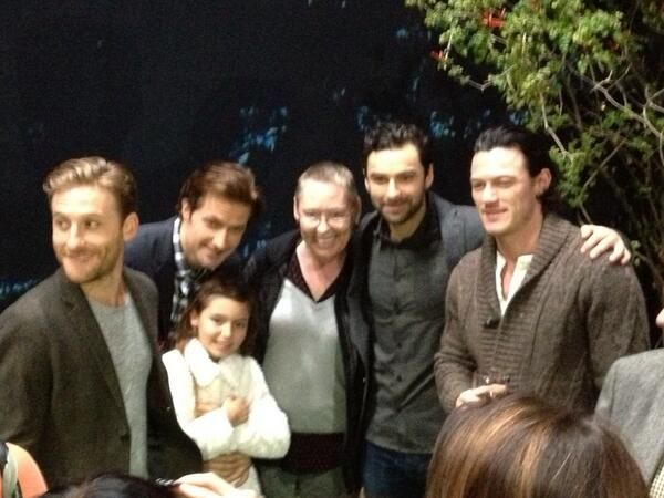 pretty sure I am melting at the way Richard is holding that little girl. Too adorable for words.