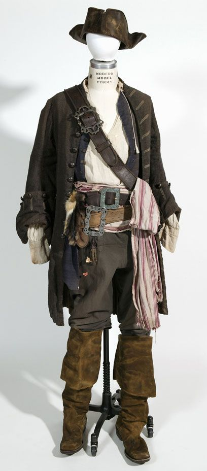 """From  """"Pirates of the Caribbean: Dead Man's Chest"""" (2006) worn by Johnny Depp as Captain Jack Sparrow design by Penny Rose"""