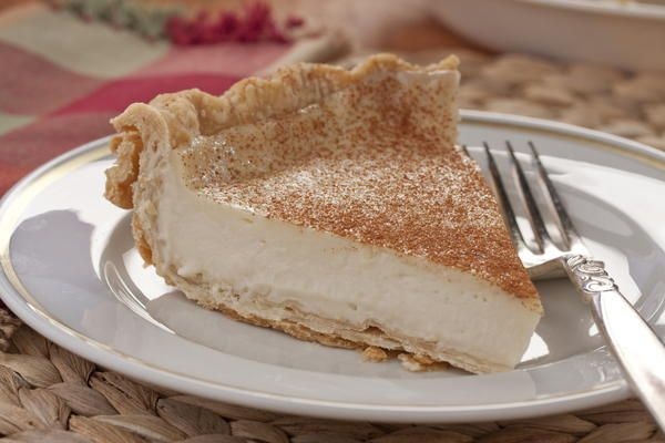 Amish Bakery Custard Pie | MrFood.com  Don't know if this is the same recipe as Grandpa's but seeing it just reminded me of him and Mom