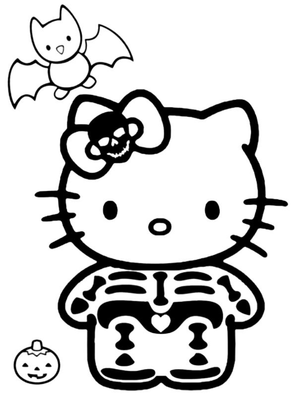 Pin By Jillane Manville On Hello Kitty Hello Kitty Colouring Pages Hello Kitty Halloween Hello Kitty Coloring