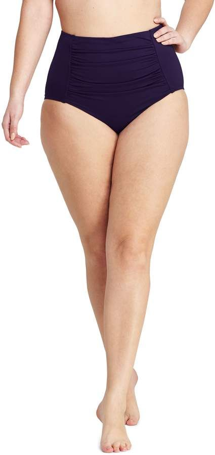 73c1ecc2ed8 Lands end Women s Plus Size High Waisted Bikini Bottoms with Tummy Control   plus size