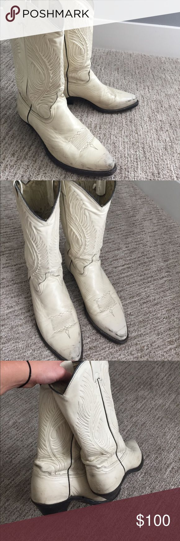 AUTHENTIC cowgirl boots Real Durango cowgirl boots. Very loved but still have plenty of life in them. Sadly I outgrew them Durango Shoes
