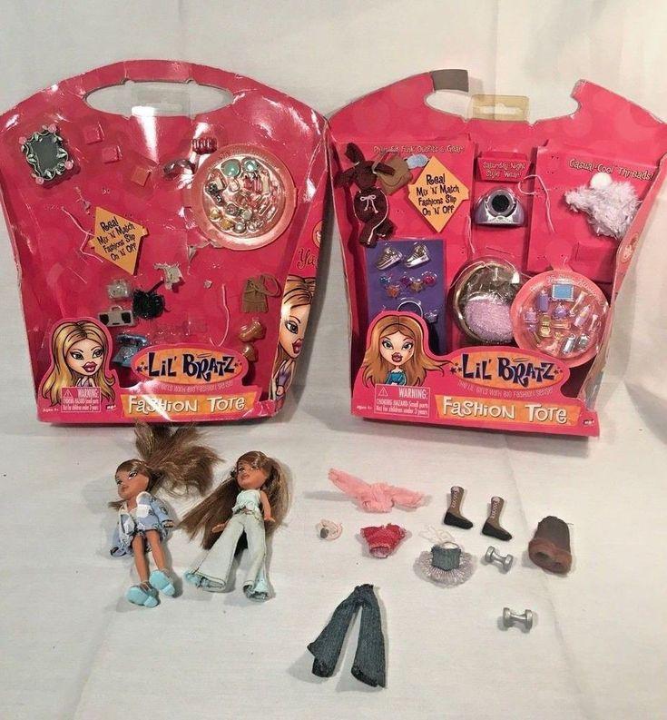 Lil Bratz Yasmin Fashion Tote Dolls and Accessories Lot #MGAEntertainment