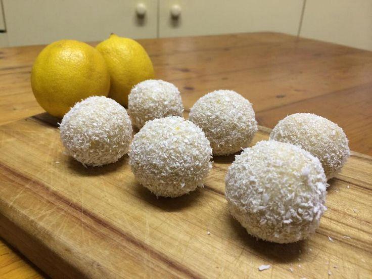 Raw lemon caramel bliss balls