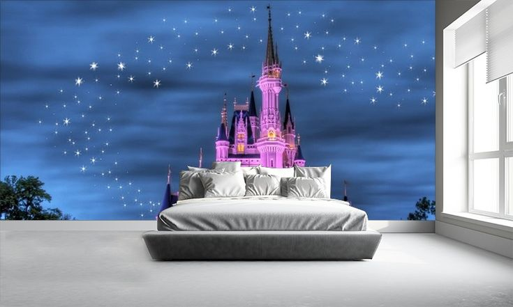 25 best ideas about disney mural on pinterest disney for Castle wall mural