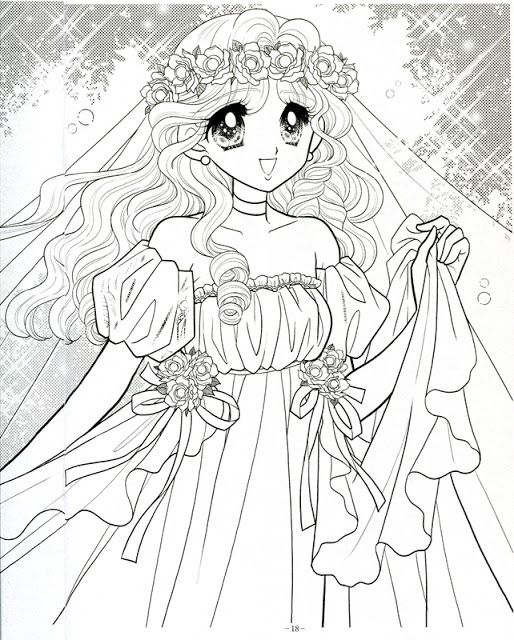 1108 best Coloring Pages Shojo Anime images on