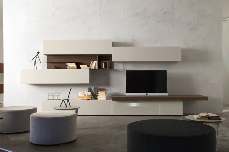 Straight base unit the door is made of an mdf frame for Presotto industrie mobili spa