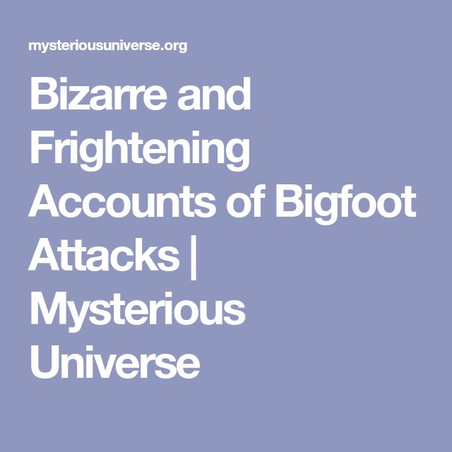 Bizarre and Frightening Accounts of Bigfoot Attacks | Mysterious Universe
