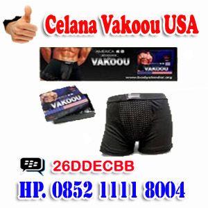 Diskripsi Produk : Celana Pembesar Penis Nama Barang : CELANA VAKOOU USA Negara Asal : Indonesia Harga Paket : Rp.300.000,-  PEMESANAN : Pembelian,Pemesanan Bisa Melalui Call/Sms : ANDY SURTRINO Call/Sms : HP. 0852 1111 8004 HP. 0877 3390 2227  PESAN BISA MELALUI VIA BB MASSENGER PIN BB : 26DDECBB