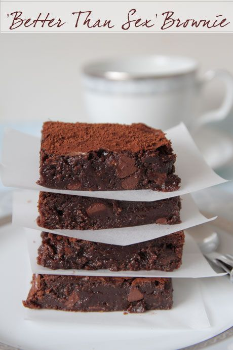 Better Than Sex Chocolate Chestnut Brownies (Gluten Free)
