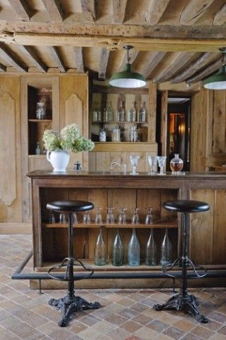 man cave rustic bar design - Google Search