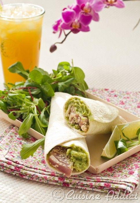 Wrap de Thon au Sésame & Avocat / Tuna & Avocado Wrap