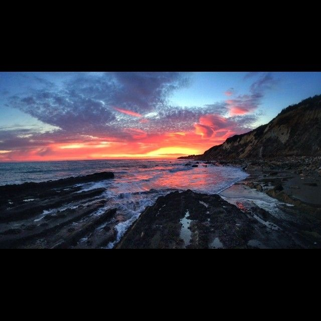 Sunset tonight in Gaviota...well...that was incredible. Here is a quick iPhone panorama! :)