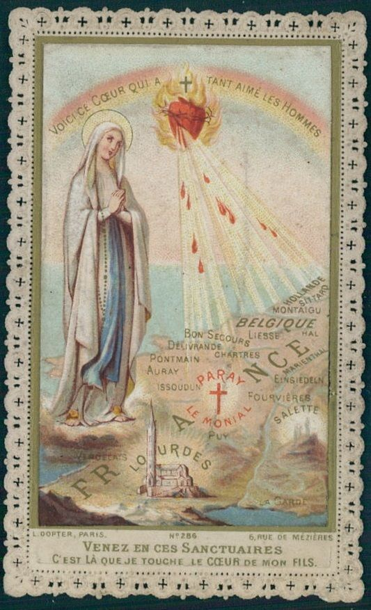 Details about VINTAGE CATHOLIC GROTTO HOLY CARD ~ BLESSED ...