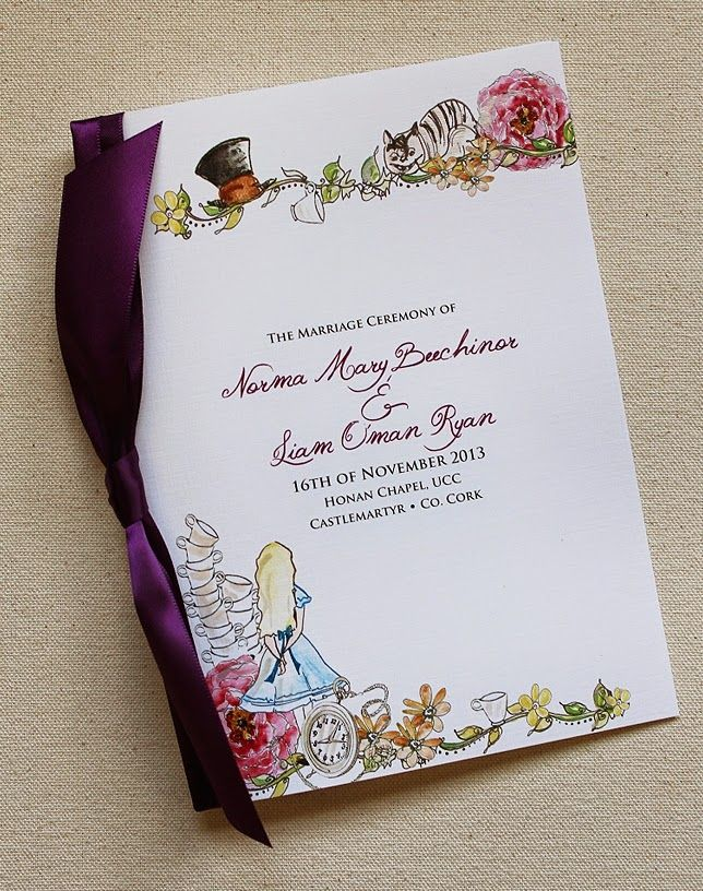 102 best Alice In Wonderland Wedding Invitations images on Pinterest