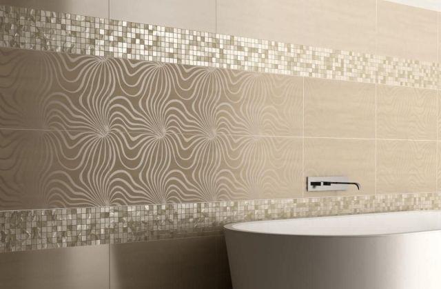 moderne lineare Vorschläge-Mosaike als Streifen-Standardformat Fliesen-florale muster