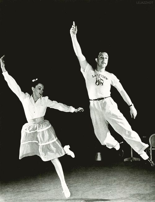 Judy Garland and Gene Kelly rehearsing, ca. 1942