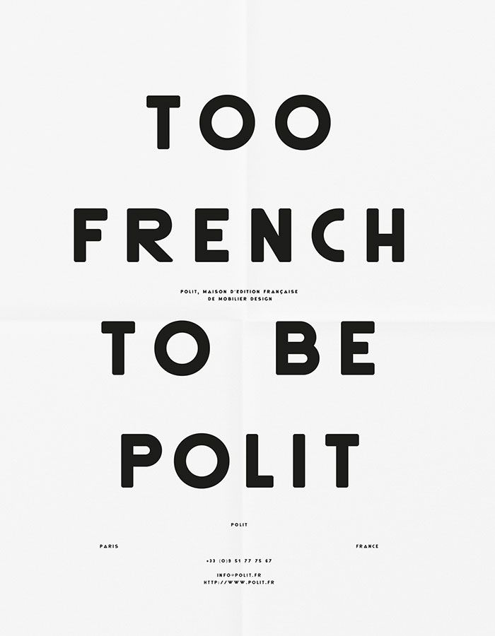 Polit - Affiches - Les Graphiquants #poster #blackandwhite #typography