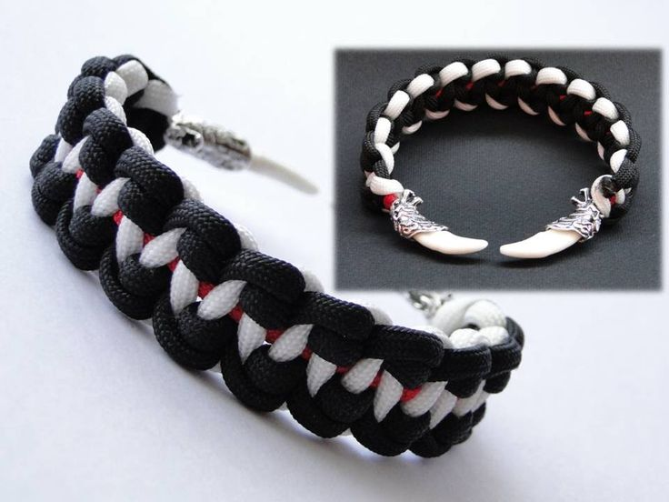 """How to Make """"Wolves Teeth"""" Paracord Survival Bracelet-Inspired by Bullet..."""