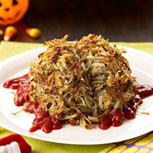 Hash Brains for #Halloween   http://www.rachaelraymag.com/Recipes/rachael-ray-magazine-recipe-search/side-dish-recipes/hash-brains: Hash Brain, Hashbrown, Food Recipes, Halloween Breakfast, Hashbrain, Hash Brown, Halloween Recipes, Halloween Food, Side Dishes Recipes
