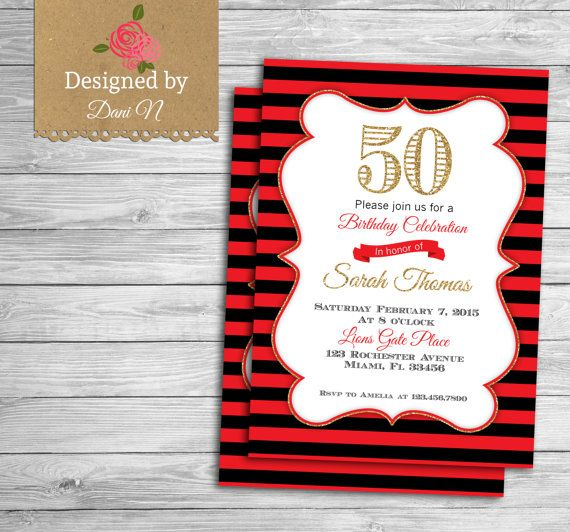 17 best ideas about Handmade Invitations Birthday – Handmade 40th Birthday Invitations