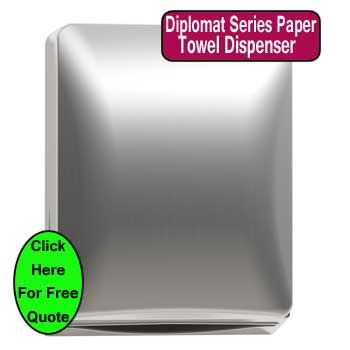 diplomat paper towel dispenser foster carepaper towelsbathroom accessories commercialadvertising - Commercial Bathroom Paper Towel Dispenser
