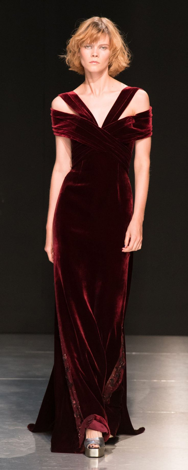 Burgundy Velvet Gown for the Holidays..