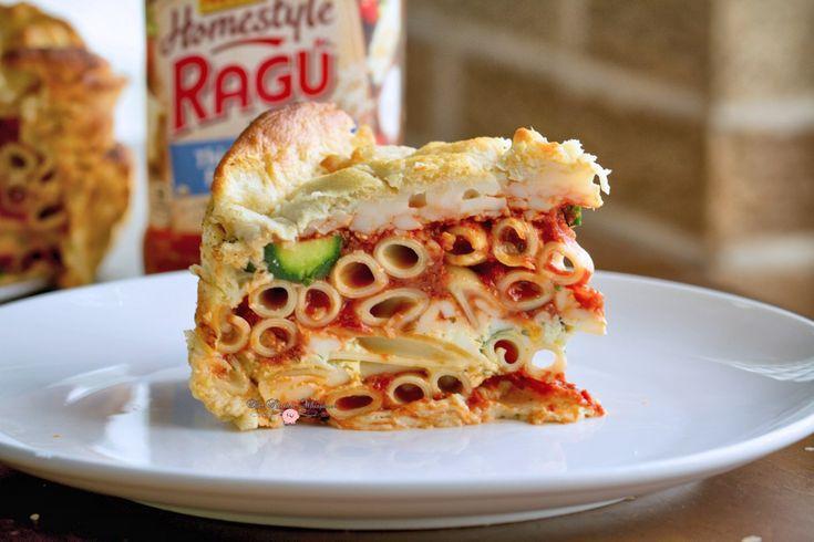 Italian Zucchini Rustica - Pasta Pie