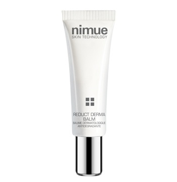 :: Nimue Skin Technology ::  Reduct Derma Balm  An anti -redness home care treatment product targeted for the control of delicate skin that shows  a tendency towards  signs of redness caused by erythema, couperose, rosacea  or telangiectasia. A unique combination of active complexes work in synergy to fight the symptoms and causes of irritated skin on multiple levels, thus reducing and controlling skin redness on the face.