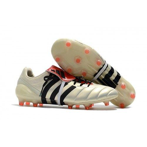 самые лучшие футбольныебутсы Adidas Predator Mania Champagne FG белый черный красный