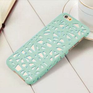 www.mobilefun.co.uk - Hollow Bird Nest iPhone 6S / 6 Case - Mint - Nestle your iPhone 6S in a protective hard case, featuring a stunning bird nest inspired design that will be a deserved tweet for anyone.