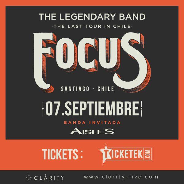 El grupo de rock progresivo Aisles abrirá el concierto que realizará la banda holandesa Focus este 7 de septiembre en el Teatro Caupolicán, el primer concierto que la banda chilena realizará tras su gira por México, que los tiene actualmente recorriendo el país azteca.
