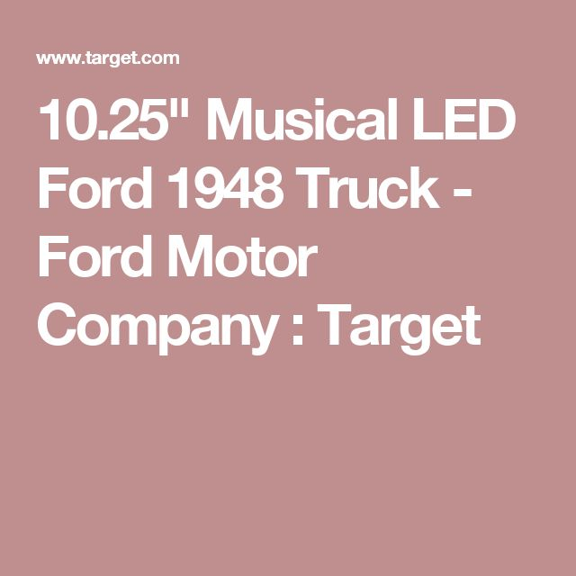 "10.25"" Musical LED Ford 1948 Truck - Ford Motor Company : Target"