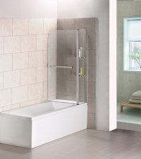 Pivot Double Door Panel 6mm Glass Bath Shower Screen 1000 X 1400